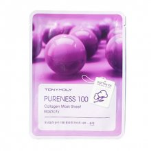 TONY MOLY, Pureness 100 Collagen Mask Sheet - Тканевая маска с экстрактом коллагена (21 мл.)