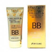 3W CLINIC, Collagen and Luxury Gold - Крем BB (коллаген и золото, 50 мл.)