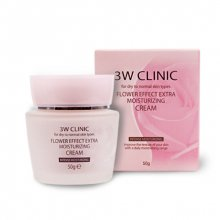 3W CLINIC, Flower Effect Extra Moisture Cream - Крем для лица (увлажнение, 50 гр.)