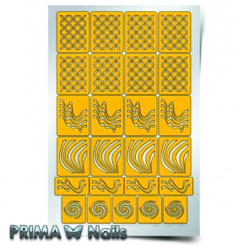 PrimaNails, Трафарет для дизайна ногтей - ИллюзияPrimaNails<br>Самоклеющиеся трафареты<br>