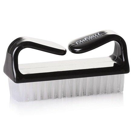 ruNail, Щетка для удаления пыли (черная) арт. 1386Прочие материалы <br>Удобная щетка для удаления загрязнений с мягкой и густой щетиной.<br>