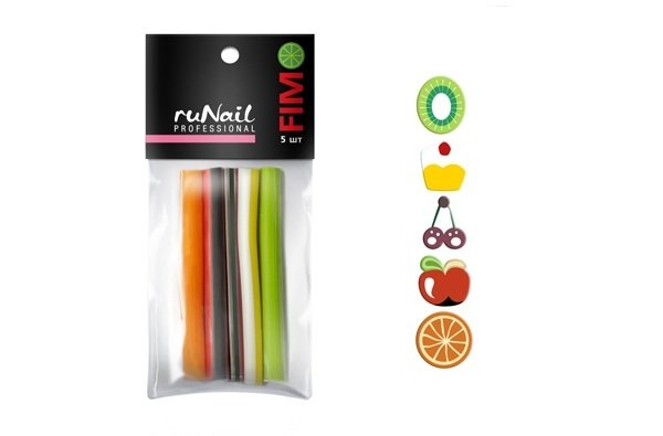 ruNail, Набор резиновых аппликаций № 1 (FIMO)Резиновые аппликации<br>Резиновые аппликации разнообразны по форме и цветовой гамме<br>