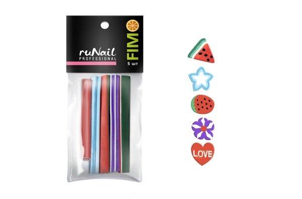 ruNail, Набор резиновых аппликаций № 2 (FIMO)Резиновые аппликации<br>Резиновые аппликации разнообразны по форме и цветовой гамме.<br>