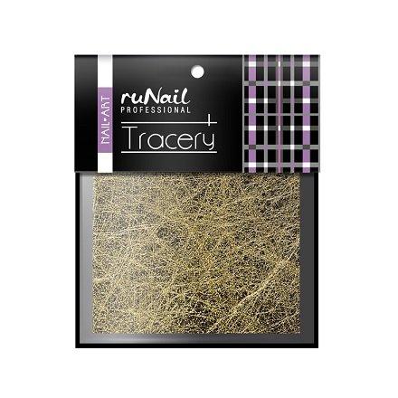 ruNail, Дизайн для ногтей: паутинка (золото) 2014Паутинка<br>Для создания необычного дизайна ногтей.<br>