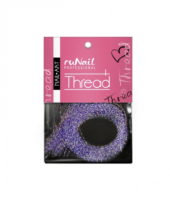 ruNail, Дизайн для ногтей: нити 1507 (фиолетовый)Нити<br>Применяется при создании внутреннего дизайна ногтей, акриловой лепке.<br>