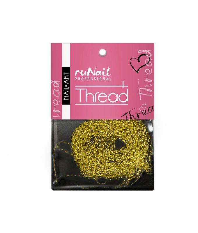 ruNail, Дизайн для ногтей: нити 1508 (золотой)Нити<br>Применяется при создании внутреннего дизайна ногтей, акриловой лепке.<br>