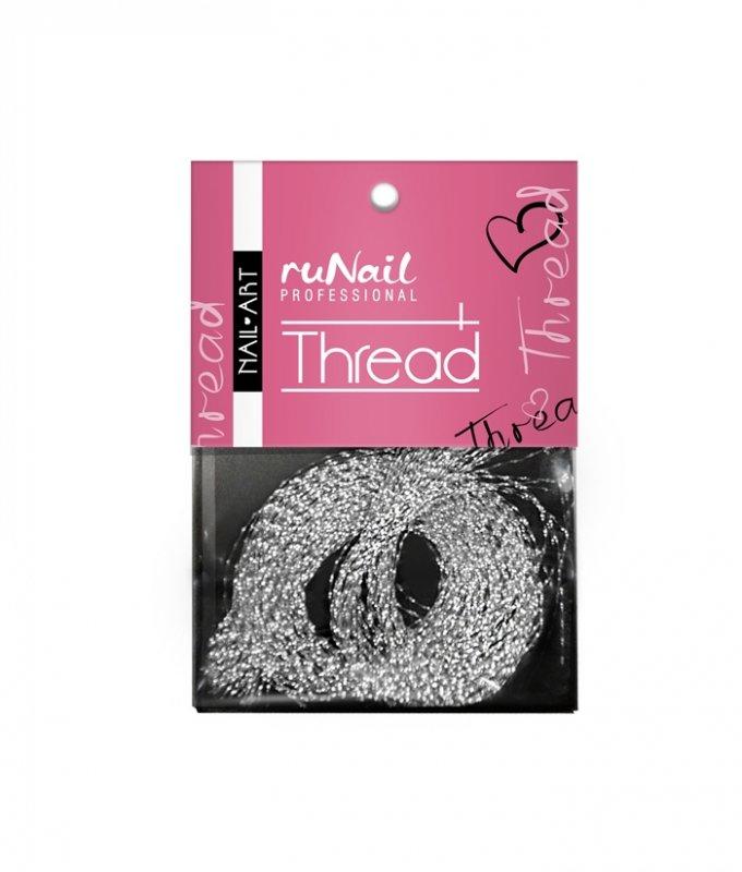 ruNail, Дизайн для ногтей: нити 1510 (серебряный)Нити<br>Применяется при создании внутреннего дизайна ногтей, акриловой лепке.<br>