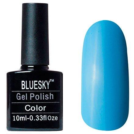 Bluesky, Шеллак цвет № 80613 Digi Teal 10mlBluesky 10 мл<br>Гель-лакголубой, без блесток и перламутра, плотный.<br>