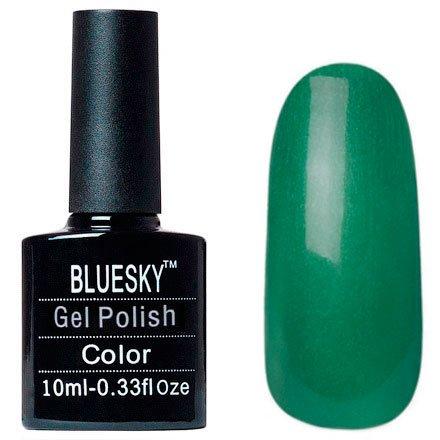 Bluesky, Шеллак цвет № 80615 Art Basil 10mlBluesky 10 мл<br>Гель-лак дымчато-изумрудный, с золотистым шиммером, плотный.<br>