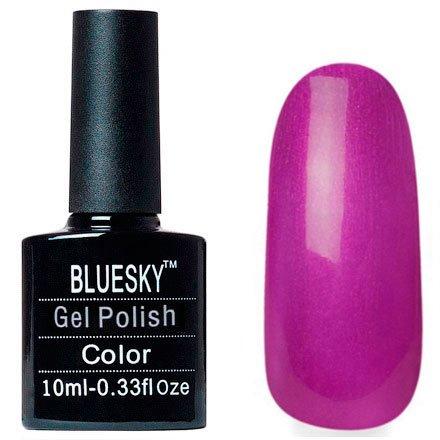 Bluesky, Шеллак цвет № 80618 Magenta Mischief 10mlBluesky 10 мл<br>Гель-лактемная фуксия, с перламутром, плотный.<br>