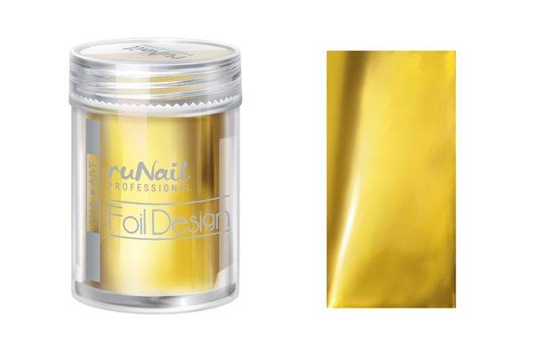 ruNail, Дизайн для ногтей: фольга 1986 (золотой)Фольга отрывная<br>Фольга для создания эффектного маникюра. Подходит для дизайна в технике литье. С металлическим эффектом.<br>