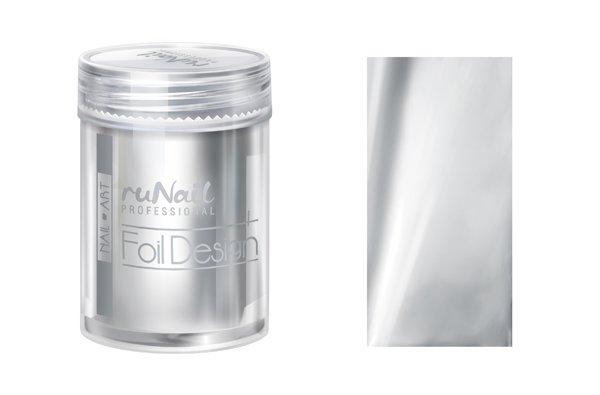 ruNail, Дизайн для ногтей: фольга 1987 (серебряный) (RuNail (Россия))