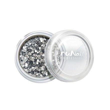 ruNail, Дизайн для ногтей: конфетти (серебряный) 1997 (RuNail (Россия))
