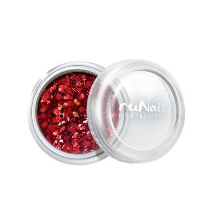 ruNail, Дизайн для ногтей: конфетти (красный) 2000Конфетти<br>Используются для создания эффектного и сверкающего дизайна ногтей.<br>