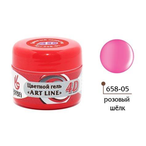 Формула Профи, 4D Art Line - Цветной гель №5 (розовый шёлк, 5гр.)4D Гель для дизайна ногтей<br><br>