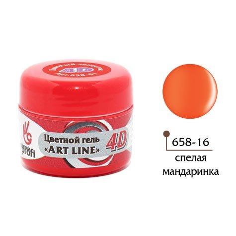 Формула Профи, 4D Art Line - Цветной гель №16 (спелая мандаринка, 5гр.)4D Гель для дизайна ногтей<br><br>