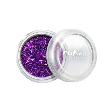 ruNail, Дизайн для ногтей: стружка (сиреневый) арт. 2005Стружка<br>Мелкая блестящая стружка яркого сиреневого цвета.<br>