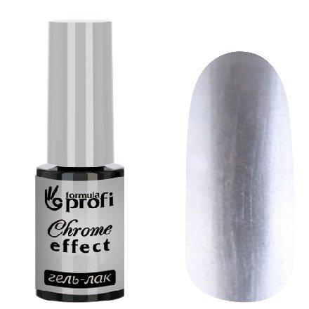 Формула Профи, Гель-лак с эффектом хрома (серебро, 5мл.)Витражный Гель-лак TINT Формула Профи<br>Гель-лак Chrome Effect с эффектом хрома цвет серебро<br>