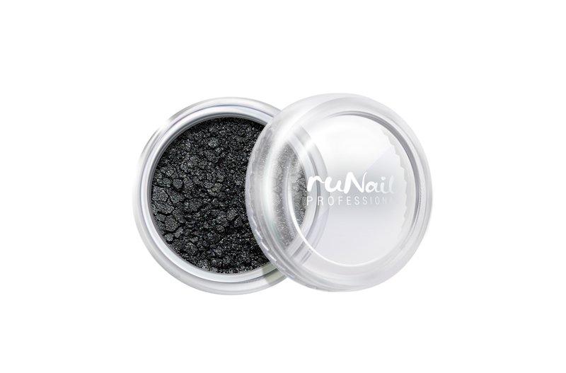 ruNail, Дизайн для ногтей: пыль 2007 (черный, матовый)Пыль<br>Матовая пыль для любого вида дизайна.<br>