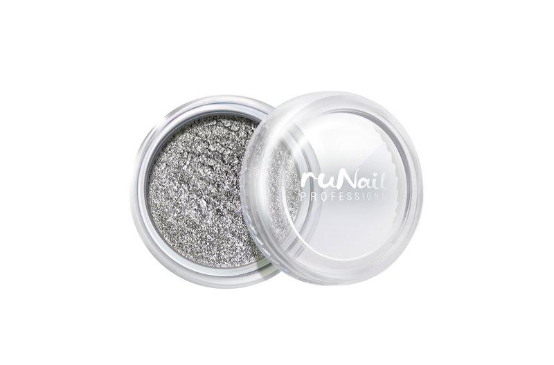 ruNail, Дизайн для ногтей: пыль 2009 (серебряный, матовый)Пыль<br>Матовая пыль для любого вида дизайна.<br>