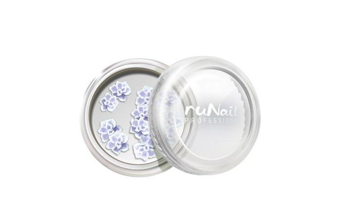 ruNail, Дизайн для ногтей: резиновые аппликации 2019 (розы, сиреневый), 10 штРезиновые аппликации<br>Резиновые аппликации для маникюра и педикюра.<br>