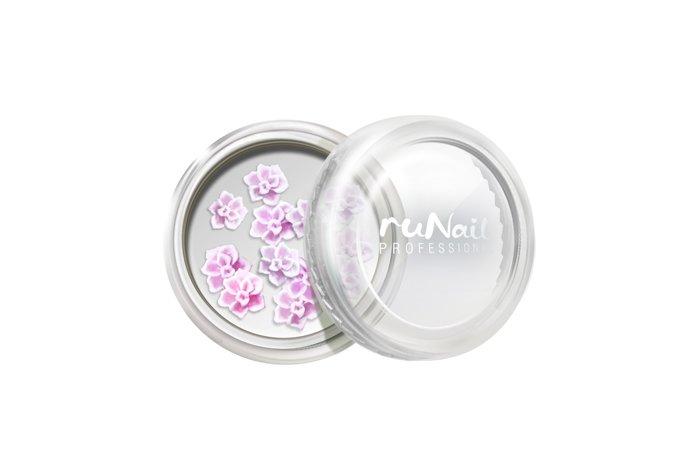 ruNail, Дизайн для ногтей: резиновые аппликации 2020 (розы, розовый), 10 шт (RuNail (Россия))