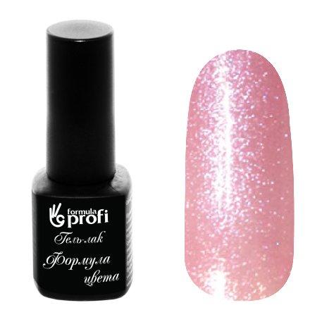 Формула Профи, Гель-лак УФ/LED №103 (лиловый, 5 мл.)Формула Профи<br>Гель-лак, полупрозрачный розовый, с блестками<br>