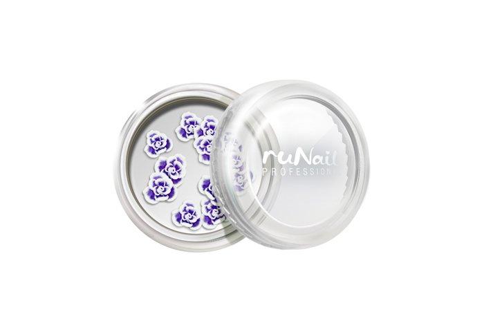 ruNail, Дизайн для ногтей: резиновые аппликации 2021 (розы, фиолетовый), 10 штРезиновые аппликации<br>Резиновые аппликации для маникюра и педикюра.<br>