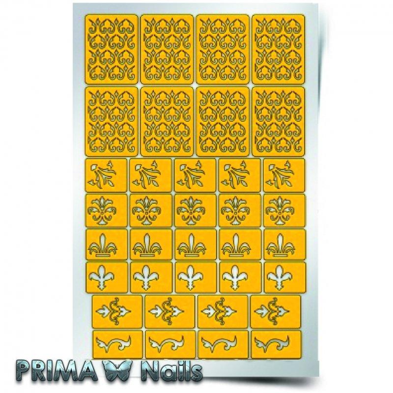 PrimaNails, Трафарет для дизайна ногтей - АрабескаPrimaNails<br>Самоклеющиеся трафареты<br>