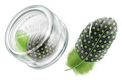 ruNail, Дизайн для ногтей: перья (лайм) FEAT007Перья<br>Перья используются в основном для конкурсного дизайна. Можно украсить ноготь, как целым пером, так и оторвав от него отдельные элементы.<br>