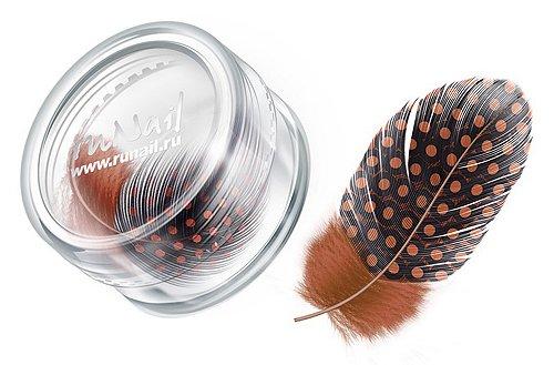 ruNail, Дизайн для ногтей: перья (темно-оранжевый) FEAT010 (RuNail (Россия))