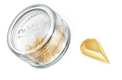 ruNail, Дизайн для ногтей: пластиковые капельки (бледно-желтый), PEDR002Пластиковые капельки<br><br>