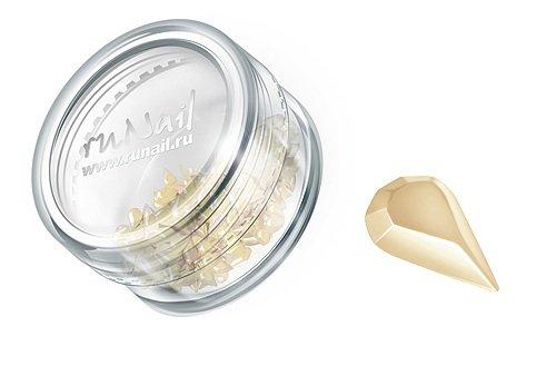 ruNail, Дизайн для ногтей: пластиковые капельки (жемчужный), PEDR005Пластиковые капельки<br><br>