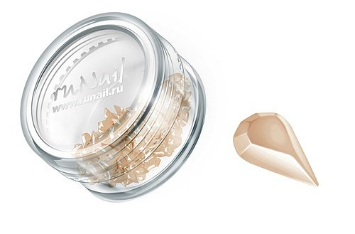 ruNail, Дизайн для ногтей: пластиковые капельки (бежевый), PEDR009Пластиковые капельки<br><br>