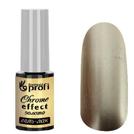 Формула Профи, Гель-лак с эффектом хрома (золото, 5мл.)Витражный Гель-лак TINT Формула Профи<br>Гель-лак Chrome Effect с эффектом хрома цвет золото<br>
