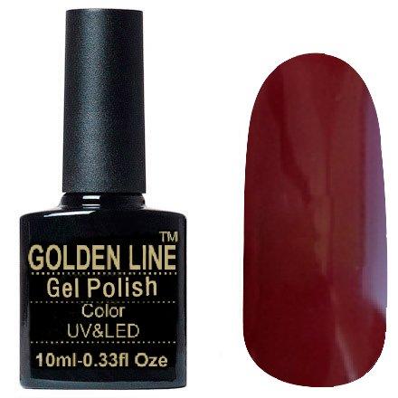 Golden Line, Гель лак - SH01Golden Line<br>Гель-лак цветабордо, без блесток и перламутра, плотный<br>