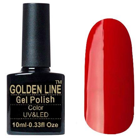 Golden Line, Гель лак - SH02Golden Line<br>Гель-лак красный, без блесток и перламутра, плотный<br>