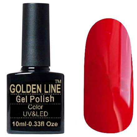 Golden Line, Гель лак - SH03Golden Line<br>Гель-лак кораллово-красный, без блесток и перламутра, плотный<br>