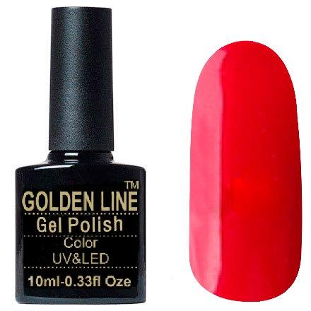Golden Line, Гель лак - SH04Golden Line<br>Гель-лак малиново-красный, без блесток и перламутра, плотный<br>