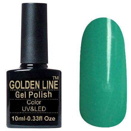 Golden Line, Гель лак - SH08Golden Line<br>Гель-лак изумрудный, без блесток и перламутра, плотный<br>