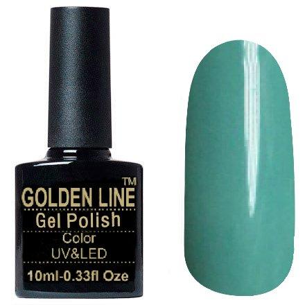 Golden Line, Гель лак - SH09Golden Line<br>Гель-лак бирюзово-голубой, без блесток и перламутра, плотный<br>