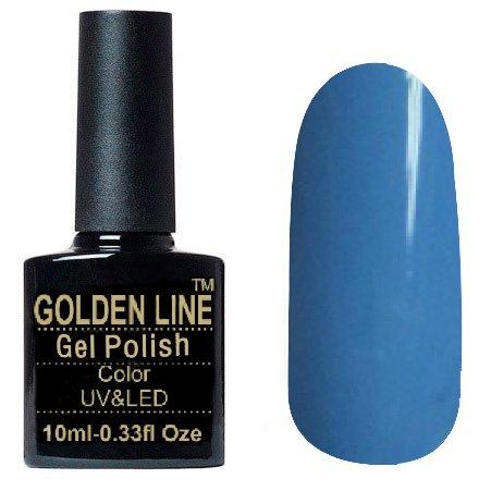 Golden Line, Гель лак - SH11Golden Line<br>Гель-лак сине-голубой, без блесток и перламутра, плотный<br>