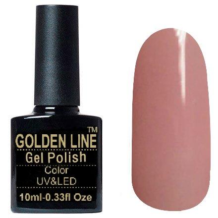 Golden Line, Гель лак - SH13Golden Line<br>Гель-лак розовато-бежевый, без блесток и перламутра, плотный<br>