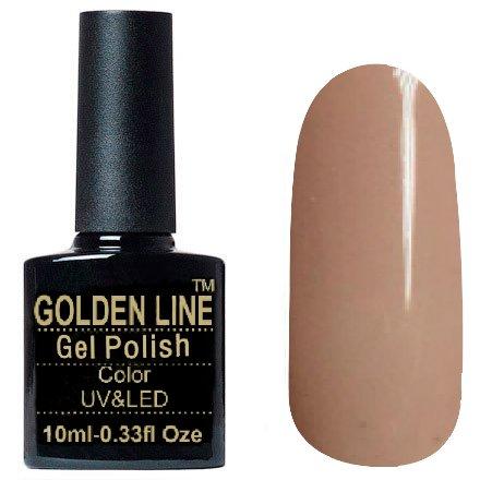 Golden Line, Гель лак - SH15Golden Line<br>Гель-лак светло-бежевый, без блесток и перламутра, плотный<br>