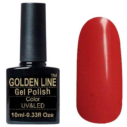 Golden Line, Гель лак - SH17Golden Line<br>Гель-лак красно-розовый, без блесток и перламутра, плотный<br>