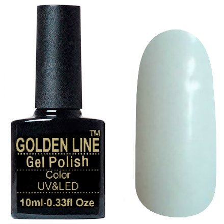 Golden Line, Гель лак - SH18Golden Line<br>Гель-лак морозно-белый, без блесток и перламутра, плотный<br>