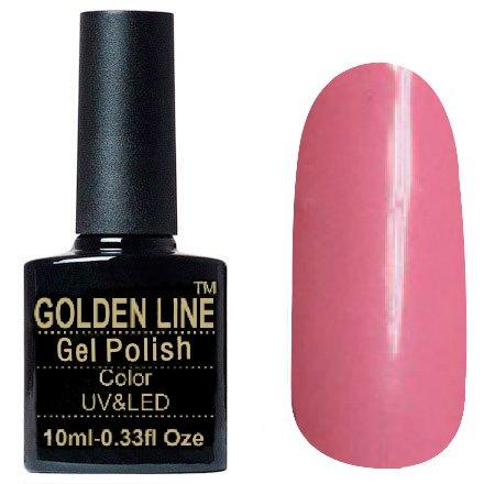 Golden Line, Гель лак - SH20Golden Line<br>Гель-лак розовый, без блесток и перламутра, плотный<br>