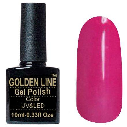 Golden Line, Гель лак - SH22Golden Line<br>Гель-лак фуксия, без блесток и перламутра, плотный<br>