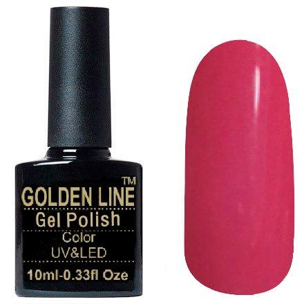 Golden Line, Гель лак - SH25Golden Line<br>Гель-лак розовый, без блесток и перламутра, плотный<br>