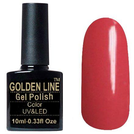 Golden Line, Гель лак - SH26Golden Line<br>Гель-лак тёмно-розовый, без блесток и перламутра, плотный<br>